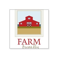 "Farm Family Square Sticker 3"" x 3"""