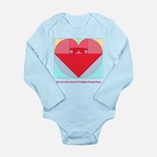 Golden Ratio heart Long Sleeve Infant Bodysuit