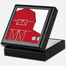 Red Barn Keepsake Box