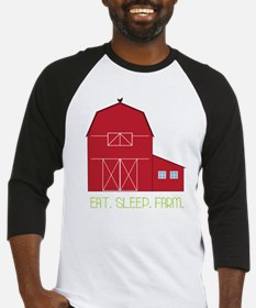 Eat Sleep Farm Baseball Jersey