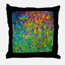 Rainbow Fields - Abstract Acrylic Painting Throw P