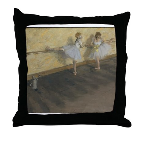 Dancers Practicing at the Bar Throw Pillow