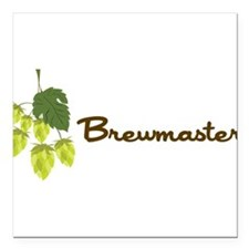 "Brewmaster Square Car Magnet 3"" x 3"""