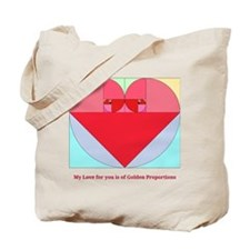 Golden Ratio Heart Tote Bag