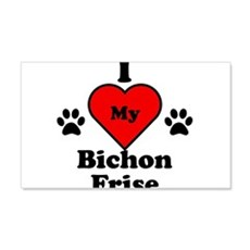 I Heart My Bichon Frise Wall Decal
