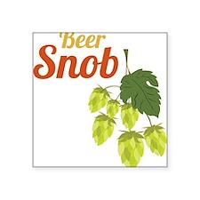 "Beer Snob Square Sticker 3"" x 3"""