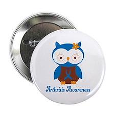 """Cute Arthritis Owl 2.25"""" Button"""