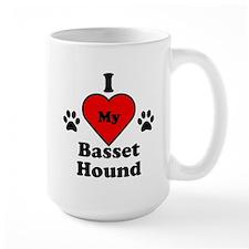 I Heart My Basset Hound Mug