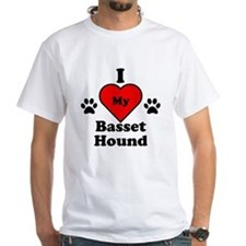 I Heart My Basset Hound Shirt