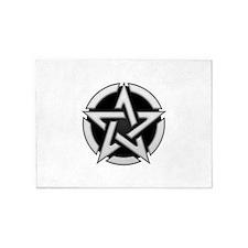 Chrome Pentagram 5'x7'Area Rug