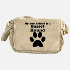 Basset Hound Best Friend Messenger Bag