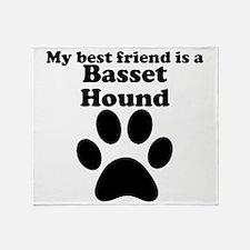 Basset Hound Best Friend Throw Blanket
