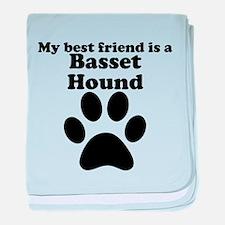 Basset Hound Best Friend baby blanket