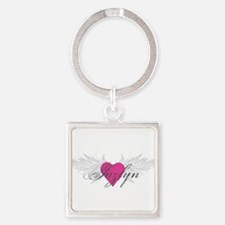 My Sweet Angel Jazlyn Square Keychain