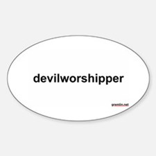 devilworshipper Oval Decal