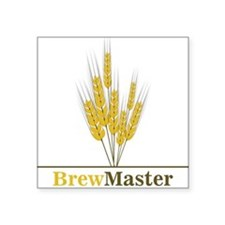 "Brewmaster Square Sticker 3"" x 3"""