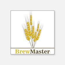 "Brewmaster Square Sticker 3"" x 3"""