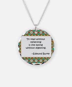 To read without reflecting Necklace