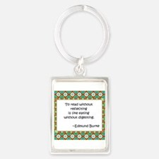 To read without reflecting Portrait Keychain