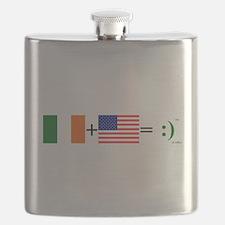 Happy Irish American Flask