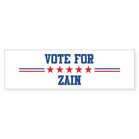 Vote for ZAIN Bumper Sticker