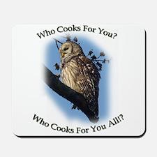 Barred Owl Mousepad