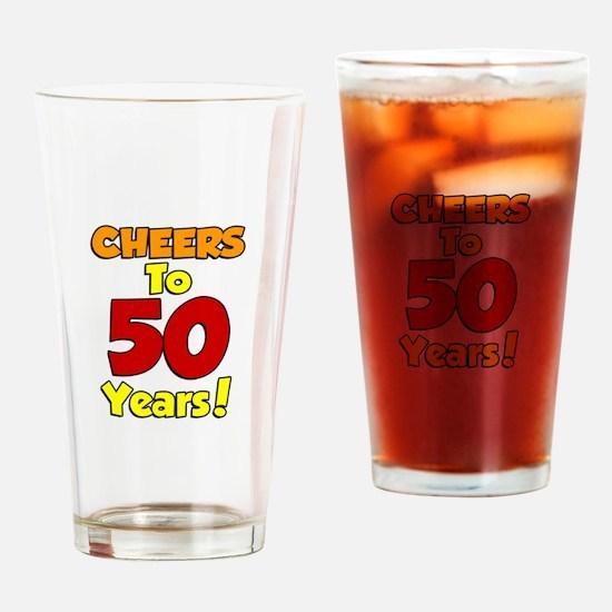 Cute 50th Drinking Glass
