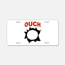 OUCH Aluminum License Plate