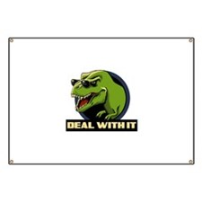 Deal with it T-rex Banner
