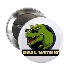 "Deal with it T-rex 2.25"" Button (100 pack)"