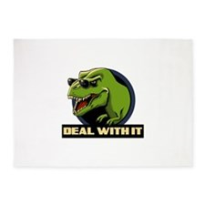 Deal with it T-rex 5'x7'Area Rug