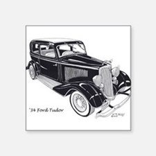 "'34 Ford Tudor Square Sticker 3"" x 3"""