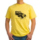 1934 coupe Mens Yellow T-shirts