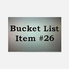 Bucket List Item Rectangle Magnet