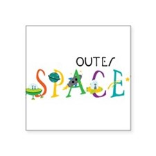 "Outer Space Square Sticker 3"" x 3"""