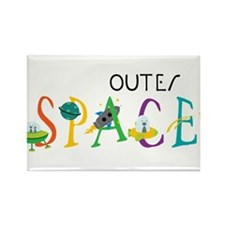 Outer Space Rectangle Magnet