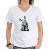Rhinoceros Womens V-Neck T-shirts