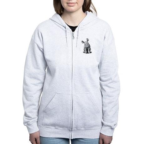 Cute Rhino Women's Zip Hoodie