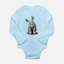 Cute Rhino Long Sleeve Infant Bodysuit