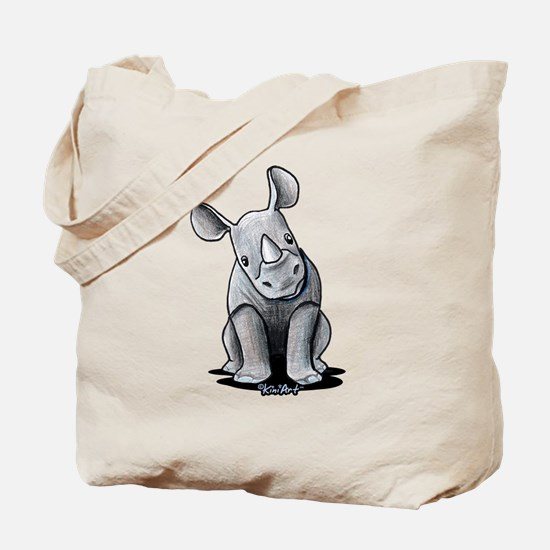 Cute Rhino Tote Bag