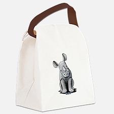 Cute Rhino Canvas Lunch Bag