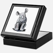 Cute Rhino Keepsake Box