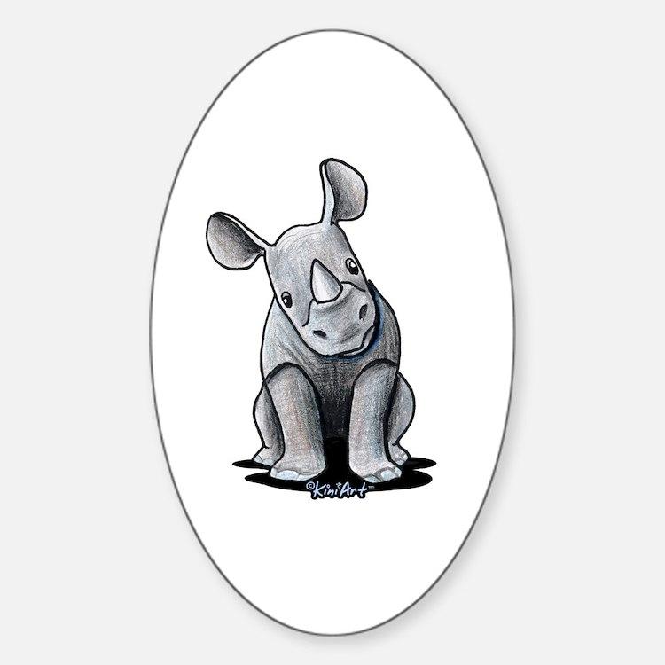 Cute Rhino Decal
