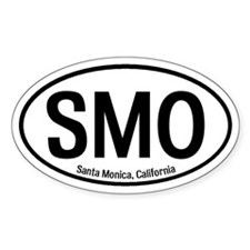 Santa Monica, California Oval Decal