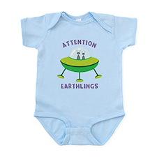 Attention Earthlings Infant Bodysuit