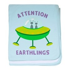 Attention Earthlings baby blanket