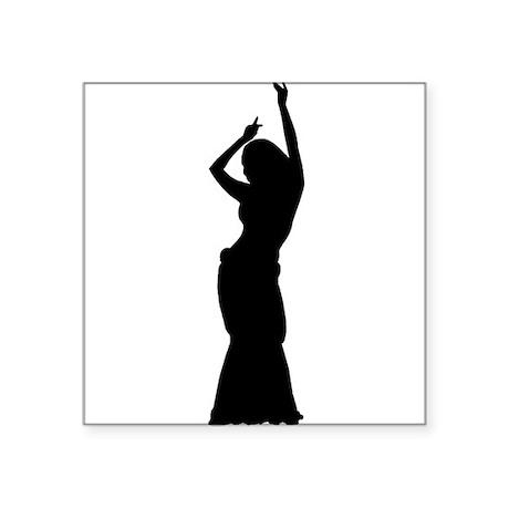Maya Slide Pose Oval Sticker