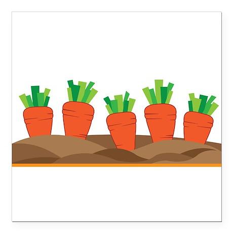"Carrots Square Car Magnet 3"" x 3"""