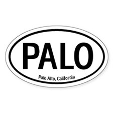 Palo Alto, California Oval Decal