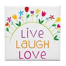 Live Laugh Love Tile Coaster